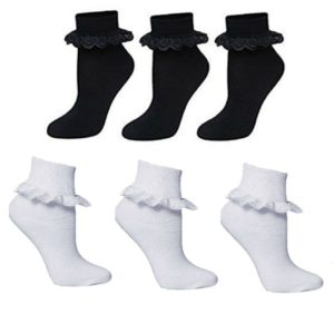 Girls Frilly Lace Ankle Socks