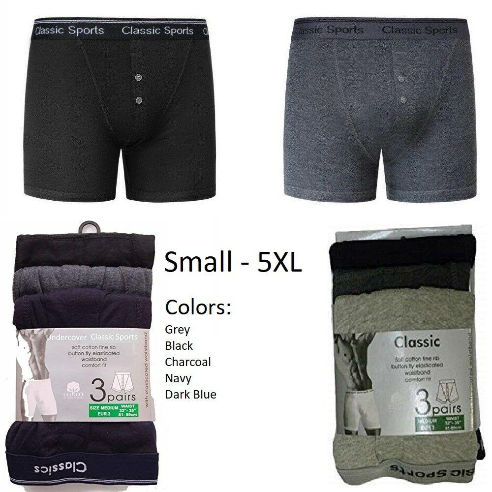 12 Pack Mens Rib Elasticated Designer Classic Cotton Rib Boxer Shorts S to 5XL