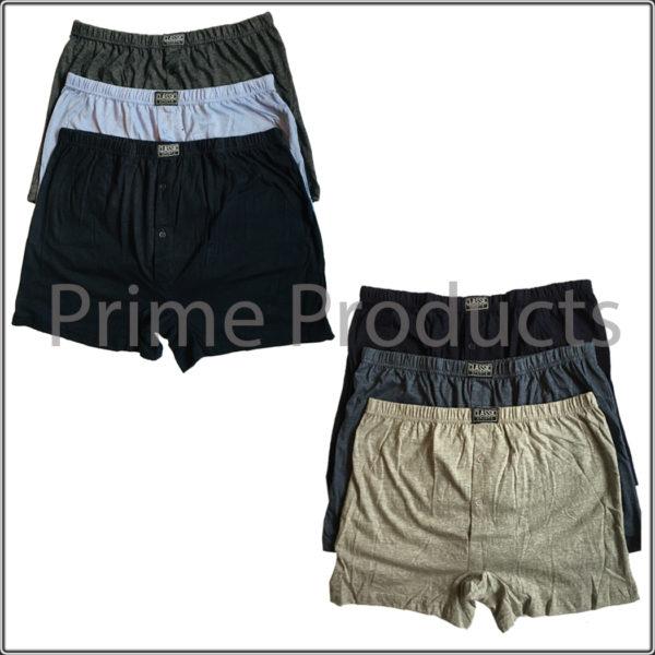 Men Plain Boxer Shorts in Assorted Colour