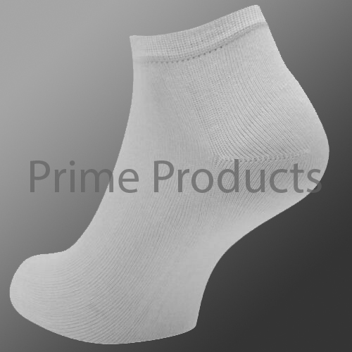 KIDS TRAINER SOCKS INVISIBLE ANKLE white
