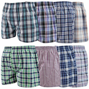 Men's Assorted Colours Executive Cotton Woven Boxer Shorts