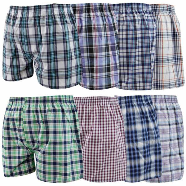 Men's Assorted Colors Executive Cotton Woven Boxer Shorts