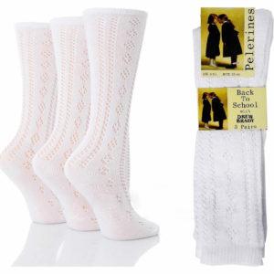 Girls Knee High Pelerine School Socks