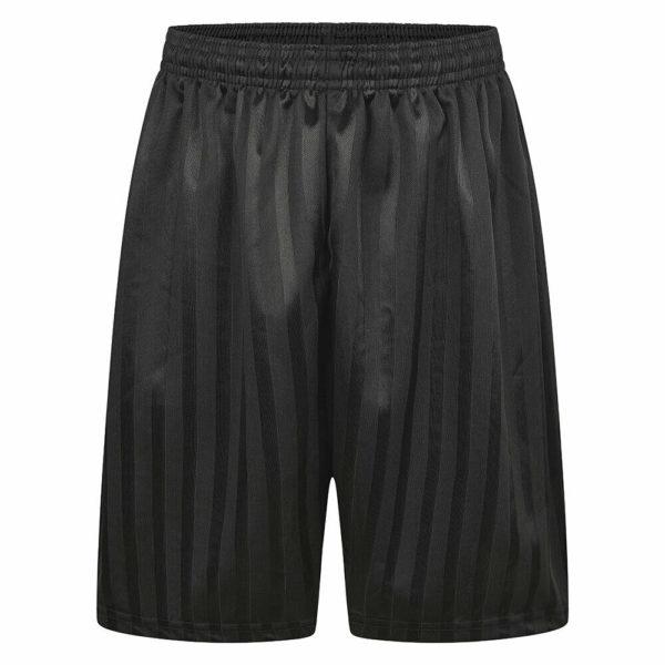 Boys/Girls/Adult Unisex Shadow Strip School PE Short With Drawstring in black