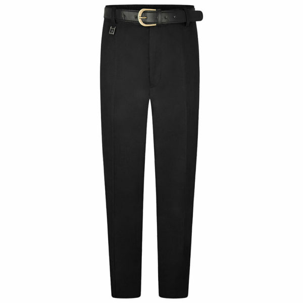 Boys Extra Sturdy Fit Plus Fit School Uniform Trouser in Black
