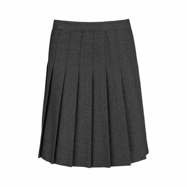 Girls All Round Knife Pleat School Uniform Skirt in black