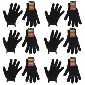 Men Comfort Fit Warm Hot Thermal Gloves in Black One Size