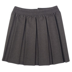Girls Box Pleat Elasticated Waist School Uniform Skirt UK Made