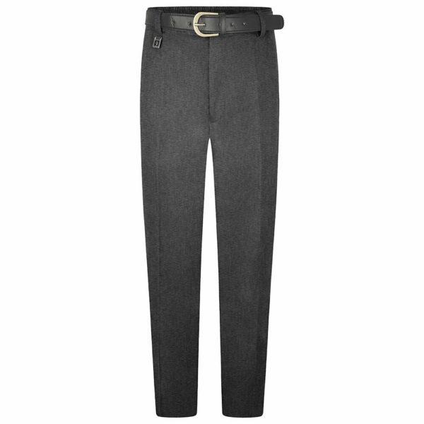 Boys Extra Sturdy Fit Plus Fit School Uniform Trouser in Grey