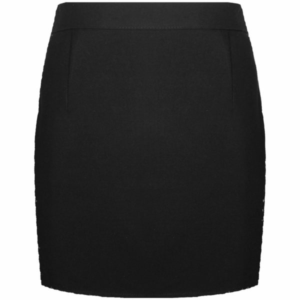 Girls Kids Back Zip Fastening Pencil Skirt in Black