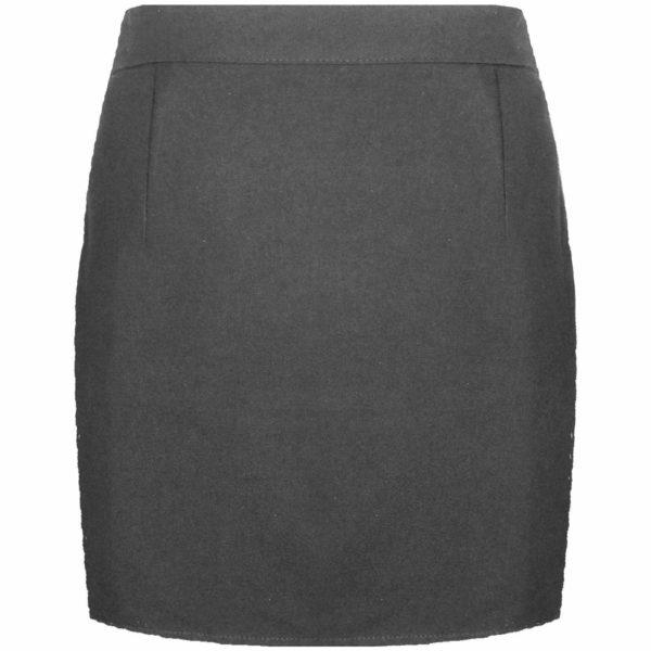 Girls Kids Back Zip Fastening Pencil Skirt in Grey