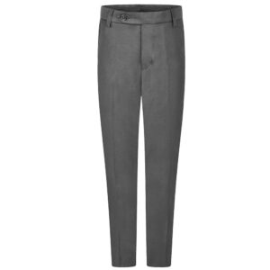 Boys Premium Quality Slim Fit School Uniform Trousers Black Navy Grey (UK Made)