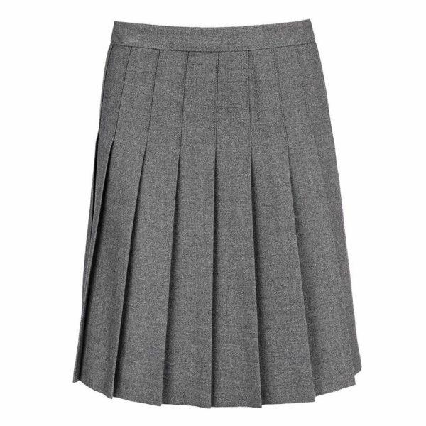 Girls All Round Knife Pleat School Uniform Skirt Grey