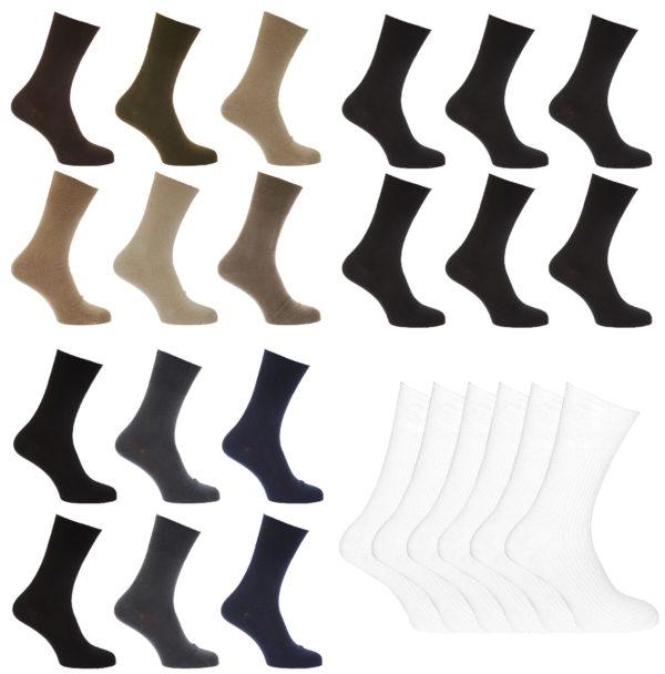 Men's Diabetic Socks, Non Elasticated Soft Top Cotton Socks
