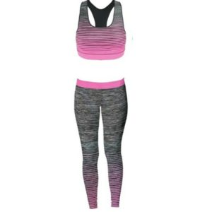 Ladies Vest &Legging Gym Fitness Wear in One Size 8-14