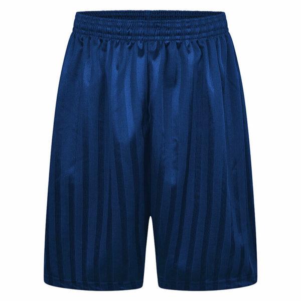 Boys/Girls/Adult Unisex Shadow Strip School PE Short With Drawstring in royal blue