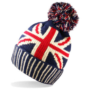 Men / Ladies Unisex Warm Winter Union Jack GB Flag Hat