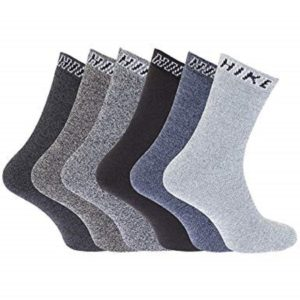 3/6/12 Men Hike Thick Chunky Walking Work Boot Socks Assorted Colours Size 6-11
