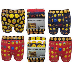 Men Emotion Assorted Colours Cotton Lycra Boxer Shorts