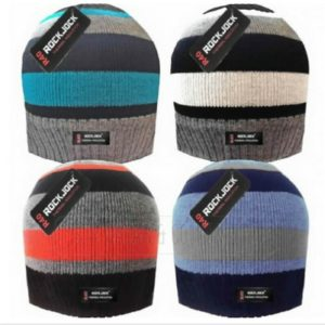 KID'S AND BOY'S STRIPED BEANIE HAT