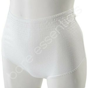 3/6/12 X Ladies Angel Touch Crinkle Lace Top Briefs Pants in White (Made in UK)