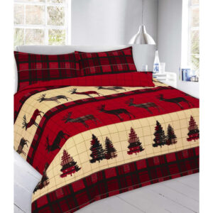Luxury Thermal Flannelette Stag Duvet Set