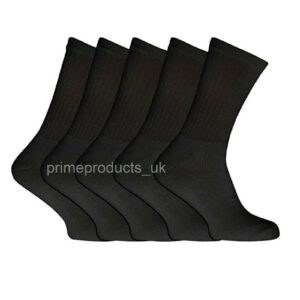 5 X Pairs Men's Big Foot Cotton Rich Sports Socks Size 12-14