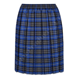Girls Tartan Box Pleated School Uniform Skirt