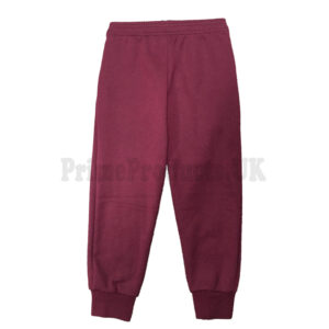 Kids Warm Fleece Jogging Bottoms School Plain Joggers Pants