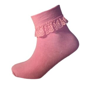 Girls Cotton Frilly Lace Top Ankle Socks