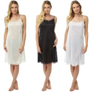 Ladies Marlon Adjustable Straps Chemise Nightdress