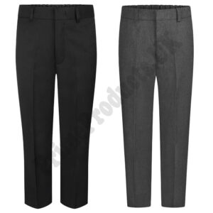 Boys Adjustable Waist School Uniform Slim Fit Trouser