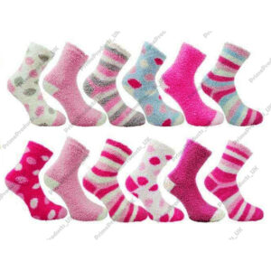 Ladies Co-Zees Fluffy Luxurious Soft & Cosy Bed Socks