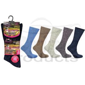 Women's Eazy Grip Wool Blend Non-Elastic Diabetics Mountain Socks