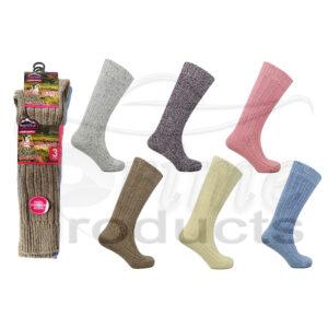 Women's Long Hose Wool Blend Mountain Thermal Socks