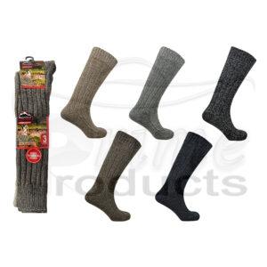 Men's Long Hose Wool Blend Mountain Thermal Socks