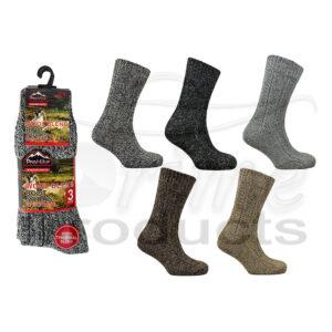 Men's Wool Blend Mountain Thermal Socks
