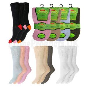 Ladies Extra Wide Diabetic Gentle Grip Socks