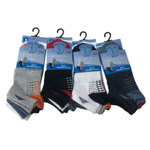 Kids Fresh Feel Trainer Socks Invisible Ankle Footwear