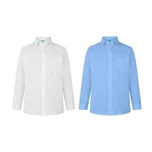 Boys Long Sleeve School Uniform Plain Shirt