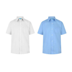 Boys Short Sleeve School Uniform Plain Shirt