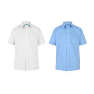 Boys Short Sleeve School Uniform Plain Shirt