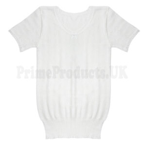 Girls Short Sleeve Thermal Cosy Vest