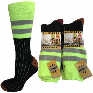Men's High Visible Neon Work Boot Socks (HIGHVIZ)