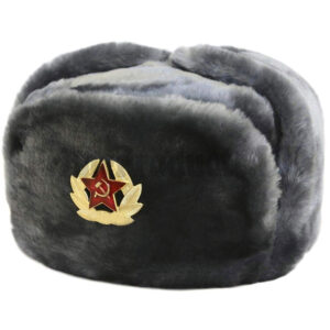 Men's 100% Polyester Russian Hat with Badge