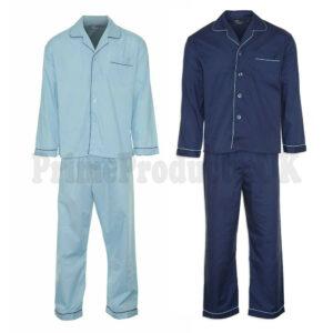 Men's Plain Cotton Traditional Long Pyjama Set