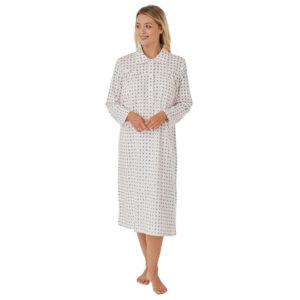 Ladies Marlon Katya 100% Brushed Cotton Wincyette Nightdress