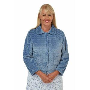 Ladies Marlon Soft Heart Embossed Bed jacket